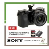 (SALES) Sony A6000 Mirrorless Digital Camera with 16-50mm Lens (Black) (Free Sony 16GB & Extra Original Battery ) (Sony Malaysia)